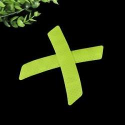 Zöld. 2Pcs fényvisszaverő figyelmeztető szalag szalag biztonsági autó lökhárító fényvisszaverő matricák matricák