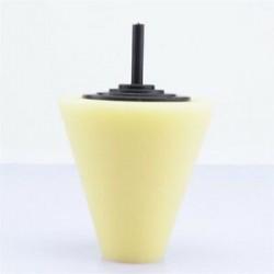 1PC sárga (puha). 3Pc polírozó habszivacs polírozó kúp alakú puffasztó párnák autós kerékagyhoz