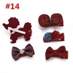 * 14 5Pcs / Set. 1 Set Hairpin Baby Girl hajcsípő íj virág Mini barrettes Star Kids fejfedők