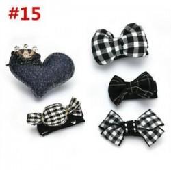 * 15 5Pcs / Set. 1 Set Hairpin Baby Girl hajcsípő íj virág Mini barrettes Star Kids fejfedők