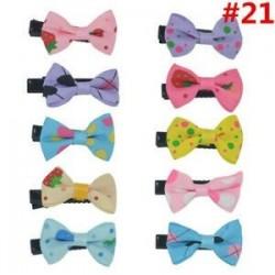 * 21 10Pcs / Set. 1 Set Hairpin Baby Girl hajcsípő íj virág Mini barrettes Star Kids fejfedők