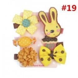 * 19 6Pcs / Set. 1 Set Hairpin Baby Girl hajcsípő íj virág Mini barrettes Star Kids fejfedők