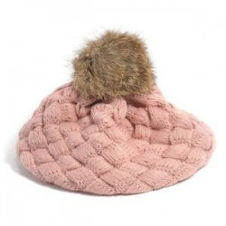 Rózsaszín. Aranyos baba gyerekek lányok kisgyermek téli meleg kötött horgolt beret sapka sapka kalap