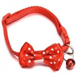 Kisállat macska kutya Bowknot harang kisállat csokornyakkendő nyakkendő nyakörv cica kölyök állítható