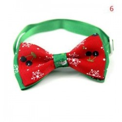 6 *. Kutya macska kisállat kiskutya aranyos bowknot nyakkendő gallér íj nyakkendő karácsonyi party ruhák