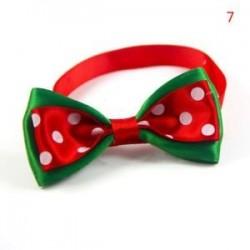 7 *. Kutya macska kisállat kiskutya aranyos bowknot nyakkendő gallér íj nyakkendő karácsonyi party ruhák