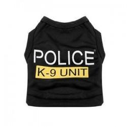 S. Kis kutya macska mellény rendőrség kölyök póló kabát kisállat ruhák nyári ruházat jelmezek