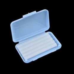 Kék (menta íz). 1Pack fogászati fogszabályozás Ortho viasz gyümölcs illat kefék konzerv gumi védő