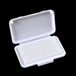 Fehér (eredeti íz). 1Pack fogászati fogszabályozás Ortho viasz gyümölcs illat kefék konzerv gumi védő