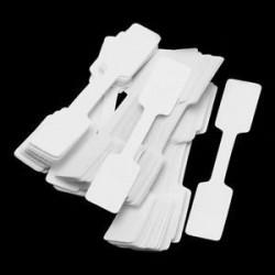 Négyszögletes. 100db / táska üres árcédulák nyaklánc gyűrű ékszer címkék papír matricák fehér