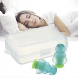 * 3 Tiszta. Puha szilikon újrafelhasználható komfort elleni zajhabos fül füldugó az úszás alvó munkadobozhoz