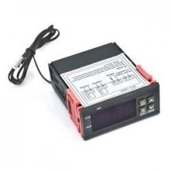 Mini-hőmérséklet szabályozó. Digitális STC-1000 hőmérséklet-szabályozó termosztát érzékelőkészlettel