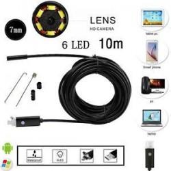 10M. 10M Android PC HD endoszkóp vízálló kígyó Borescope USB ellenőrző kamera 7MM