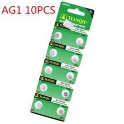 10db AG1. 10db AG1. 5/10 / 100PCS lúgos érme gomb cellás akkumulátor stabil játékmegőrző távirányítóhoz