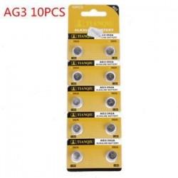 10db AG3. 10db AG3. 5/10 / 100PCS lúgos érme gomb cellás akkumulátor stabil játékmegőrző távirányítóhoz