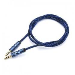 Kék. Kék. 1M 3.5mm AUX Audio TRS Jack kábel Nylon hímzett csatlakozó sztereó autós telefonhoz