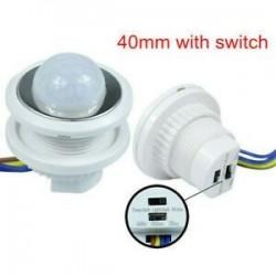 5W ~ 200W PIR infravörös test mozgásérzékelő vezérlő kapcsoló Fénylámpa otthoni dekoráció