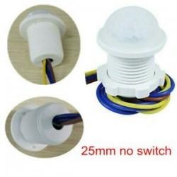 25mm nincs kapcsoló. 25mm nincs kapcsoló. 5W ~ 200W 50 ~ 60Hz PIR infravörös test mozgásérzékelő vezérlő kapcsoló