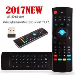 Mx3 2,4 GHz-es levegő egér vezeték nélküli billentyűzet távoli hang Control For Smart TV BOX PC