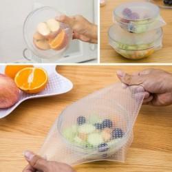 4db Pack élelmiszer DIY szilikon pakolások konyha pecsét borító Stretch és frissen tartása eszközök