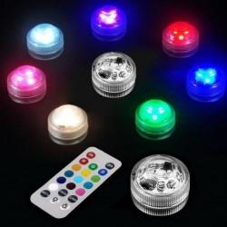 LED merülő távirányítású könnyű RGB szín-változás esküvői gyertya