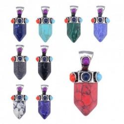 Divat természetes kő kő Crystal csakra gyógyítás Reiki medál nyaklánc DIY ékszerek készítéséhez