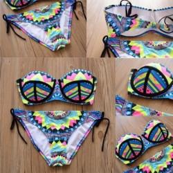 1x Szexi Női Bikini Push-up Párnázott szivacsos fürdőruha melltartó monokini bikini strandruha