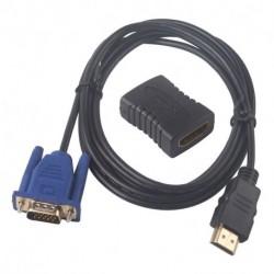 HDMI  F / F HDTV HDMI kábel bővítő adapter átalakító csatlakozó   1,8 m HDMI Male - VGA HD-15
