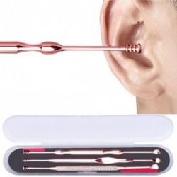 3 db Ear Pick fülzsír eltávolító fültisztító tisztító készlet rozsdamentes acél