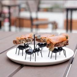 12db cuki aranyos hangya mintás Élelmiszer Gyümölcs villa étel dísz