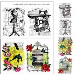 ff9b37e5b1 1x Retro mintás Átlátszó gumi bélyegző bélyegző DIY album Craft  Scrapbooking dekoráció
