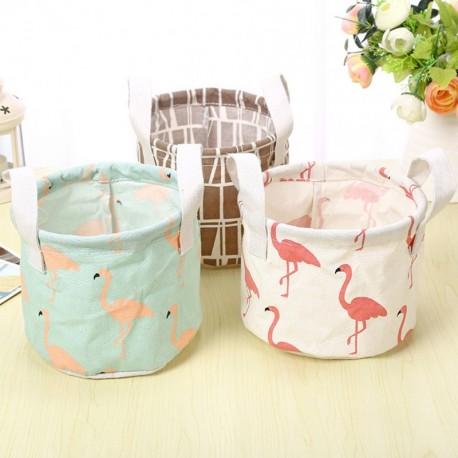 1x Flamingo Állat mintás tároló doboz kerek