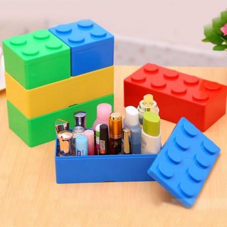 1db hordozható tégla műanyag gyógyszer tablettatároló doboz ékszer smink tárolás 16,5 * 8 * 5,5cm