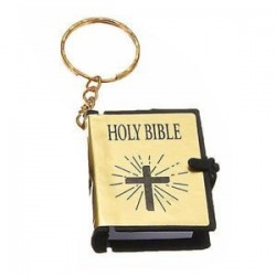 Mini Biblia kulcstartók English HOLY BIBLE Vallási keresztény Jézus kereszt kulcstartók