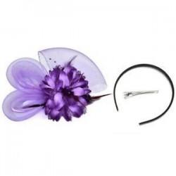 Női Fascinator Feather Esküvői Party Pillbox Hat divat fejpánt Clip fátyol