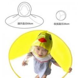 Utolsó összecsukható gyerekek rajzfilm kacsa esőkabát Umbrella UFO alakja Rain Hat Cape