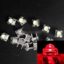 50db 5mm F5 Piranha LED piros kerek fej szuper fényes fénykibocsátó dióda