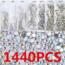1440db Csillogó kristályos - strasszos dísz körömhöz - műkörömhöz - 1-es verzió