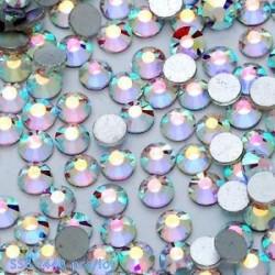 SS8ABďĽ2.4mmďĽ ‰ 1440PCS. 1440pcs lapos hátsó körömlakk csillogó gyémánt drágakövek 3D tippek díszítés