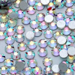 SS10ABďĽ2.8mmďĽ ‰ 1440PCS. 1440pcs lapos hátsó körömlakk csillogó gyémánt drágakövek 3D tippek díszítés