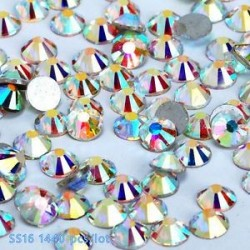 SS16ABďĽ4mmďĽ ‰ 1440PCS. 1440pcs lapos hátsó körömlakk csillogó gyémánt drágakövek 3D tippek díszítés