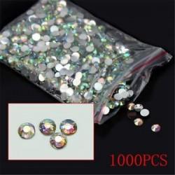 1000db 4mm. 1440pcs lapos hátsó körömlakk csillogó gyémánt drágakövek 3D tippek díszítés