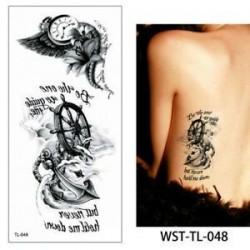 * 48. Szexi test mellkasi művészet 3D virág ideiglenes matricák vízálló kar tetoválás matricák