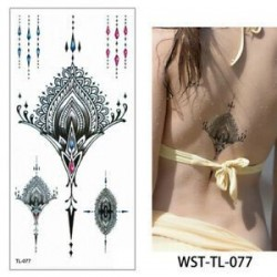 Vízálló ideiglenes Tetoválás nőies mintával - vízálló matrica - 77. verzió