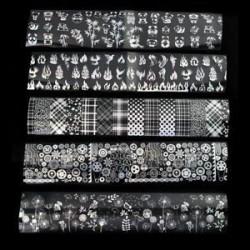 * 16 10Pcs / készlet (4 * 20cm). Holografikus körömfóliák Csillag Nail Art Transfer matrica DIY manikűr tippek Decor