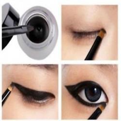 * 2 Gél Fekete. Smink folyékony gél krém szemceruza vízálló szemlencse toll ceruza szépség kozmetikai