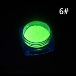 6 *. Neon színek Foszforeszkáló FLUORESCENT por izzó sötét körömlakk akril