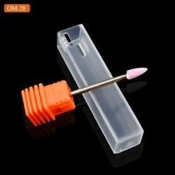 OM28. 1 x Kerámia kő köröm fúrófej 3/32 &quot Forgassa a Burr Cuticle Clean Manikűr eszközöket