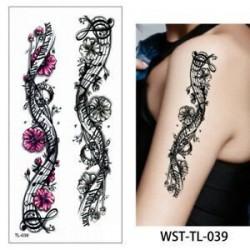 * 39. Vízálló szexi test mellkasi Art 3D virág ideiglenes matricák Arm tetoválás matricák
