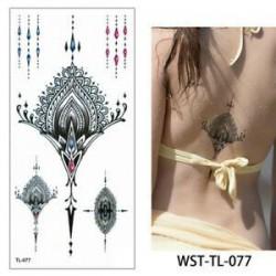 * 77. Vízálló szexi test mellkasi Art 3D virág ideiglenes matricák Arm tetoválás matricák